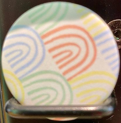 Badge magnetique magnet fun original photo instagram followers SKDéco skdecoshop skdeco arc en ciel rainbow