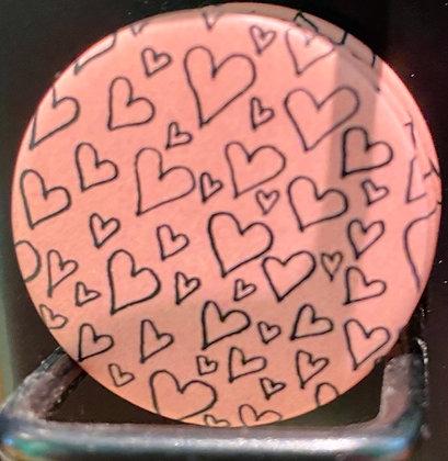 Badge magnetique magnet fun original photo instagram followers SKDéco skdecoshop skdeco coeur heart love amour