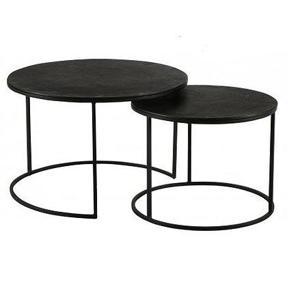Table Basse en Métal Noire Taille L