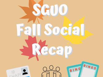 SGUO Fall Social Recap!