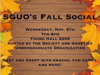 Fall SGUO Social- Week 6