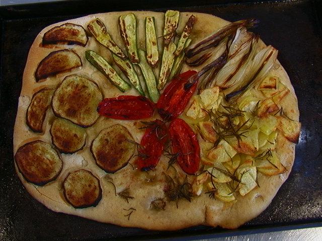 focaccia di verdure cotta 7