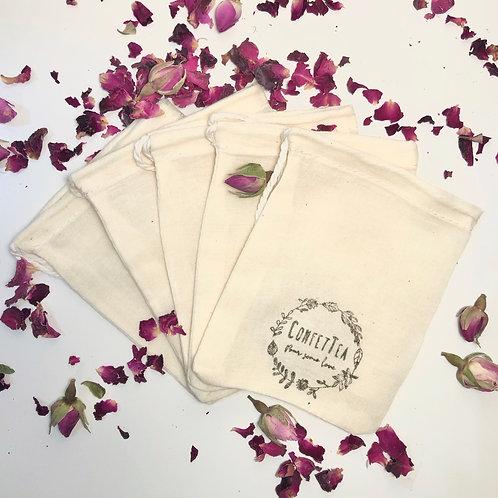 Empty Muslin Tea Bags - Pack of 5