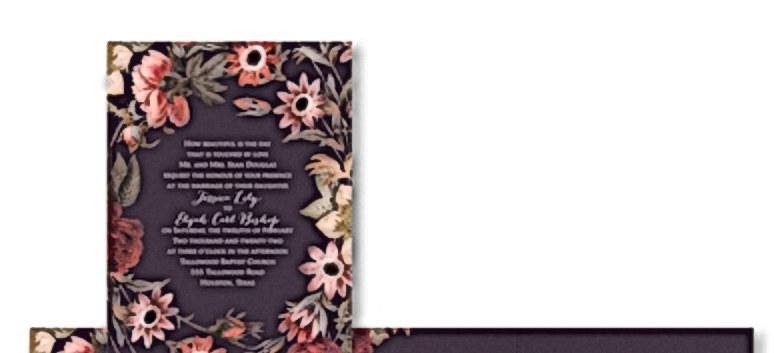 Antique Floral Invitation