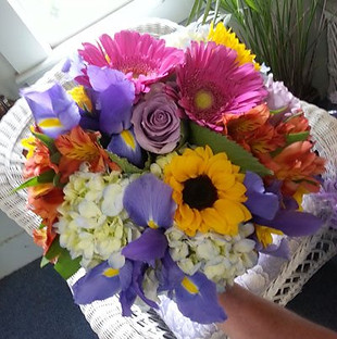 pink gerbs sunflower bouquet.jpg