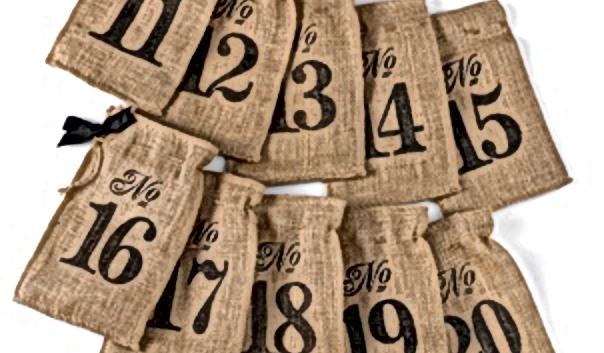 Burlpa Table Number Wine Bags