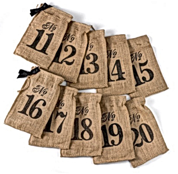 Burlpa Table Number Wine Bags