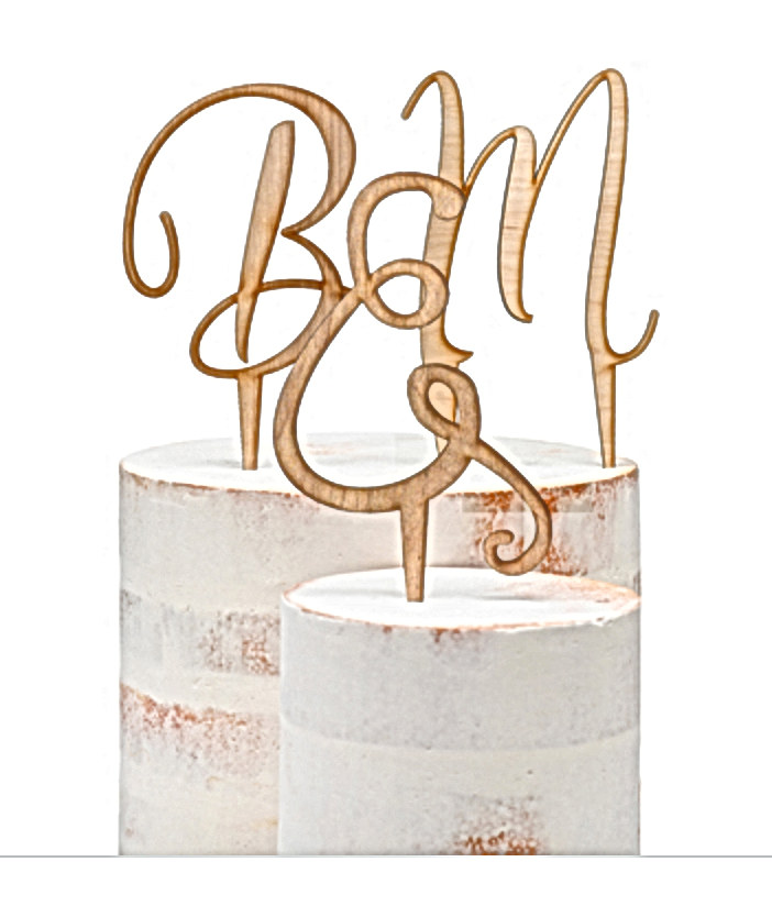 Initials Wedding Cake Topper