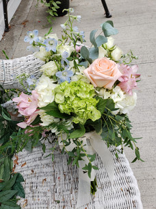 Wedding Bouquet in Soft Summer Colors