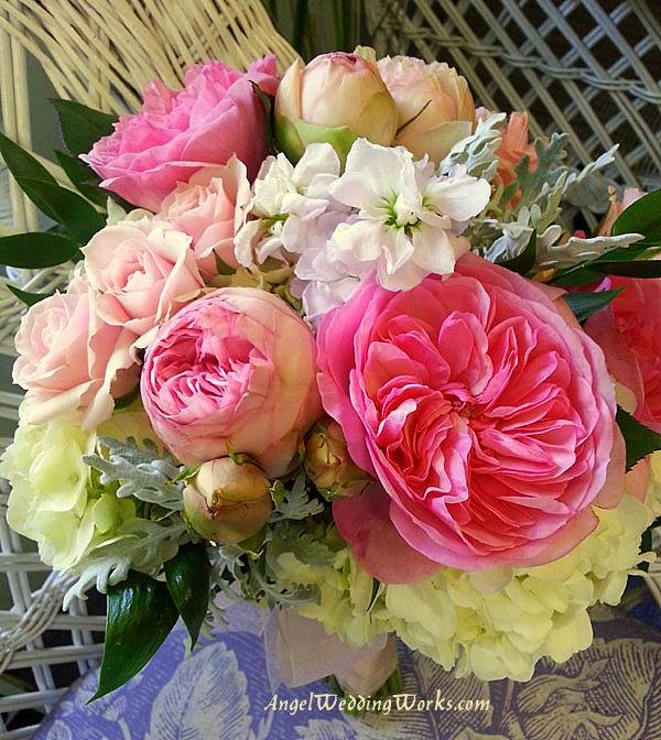 Pink and Creme Wedding Bouquet