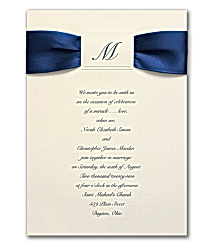 Satin Initial Invitation