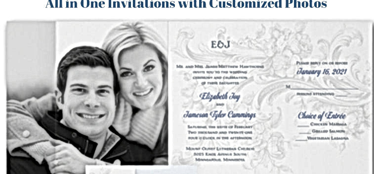 All in One Photo Invitation