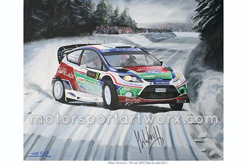 Mikka Hirvonen, Rally Sweden.
