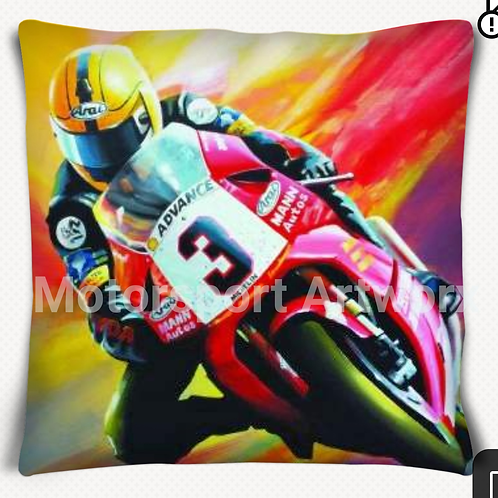 """True colours"" Joey Dunlop cushion"