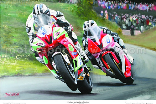 Michael and William Dunlop at the Skerries