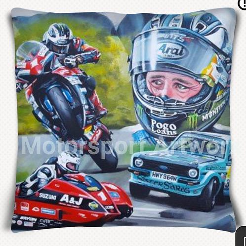 """""""2,3,4""""Michael Dunlop cushion"""