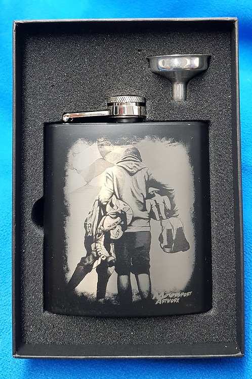 """William Dunlop """" Going Home"""" Hip Flask"""
