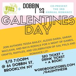 WORD & Dobbin St Present: Galentine's Day