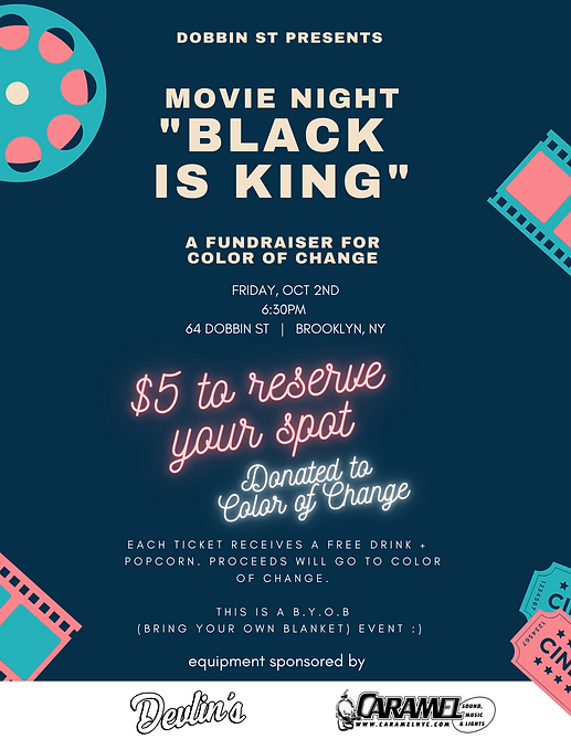 Dobbin St Movie Night Poster Final rooft