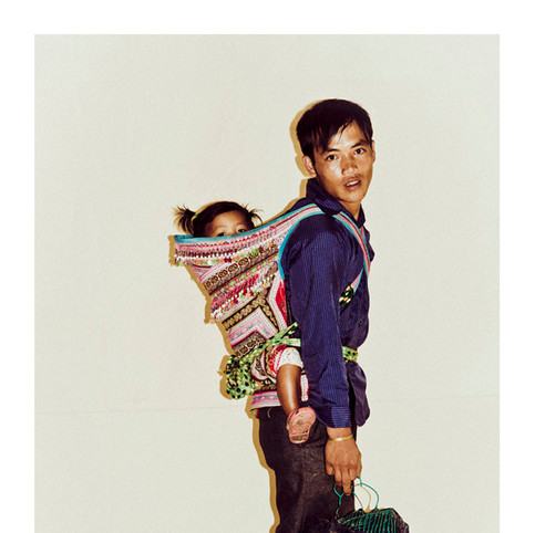 Flower Hmong Man with Child # 4