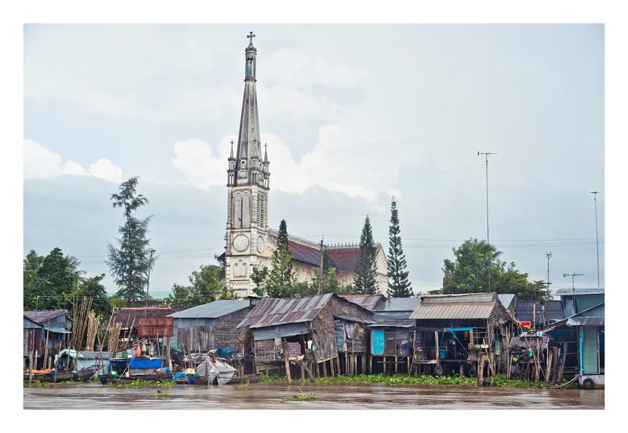 Catholic Church, Vinh Long, Vietnam