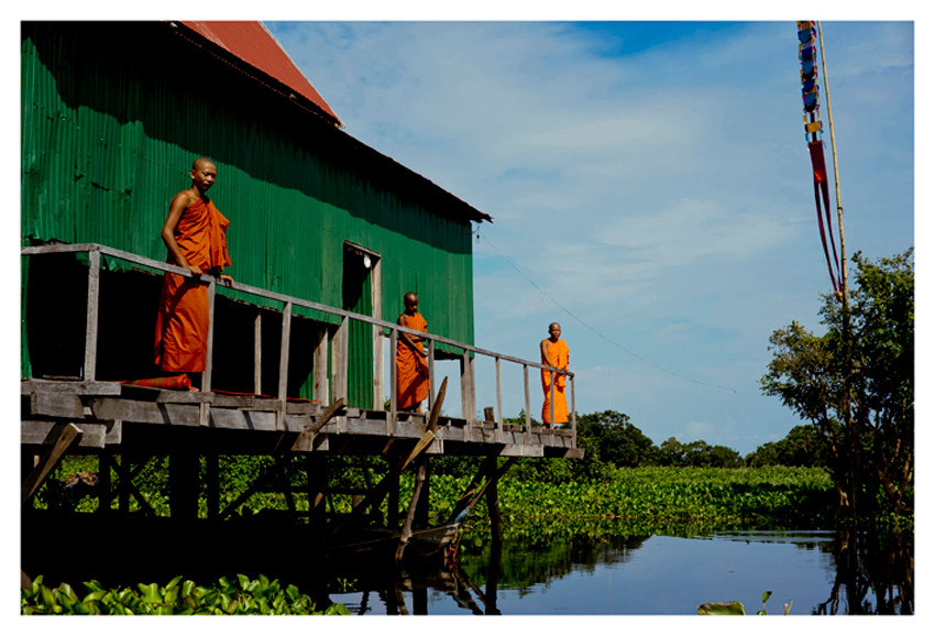 Stilt Temple, Tonle Sap, Cambodia.