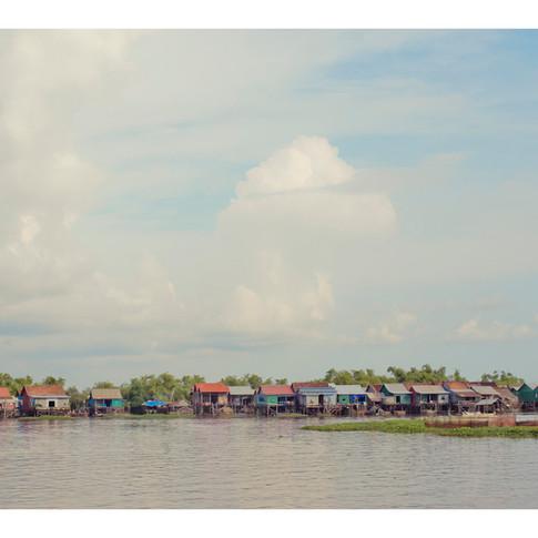 Stilt village, Tone Le Sap, Vietnam, Cambodia