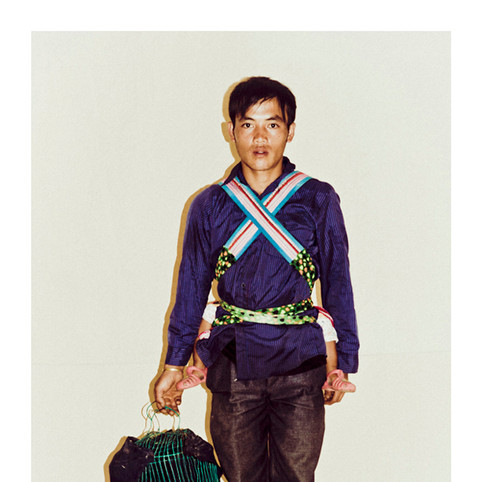 Flower Hmong Man with Child # 5