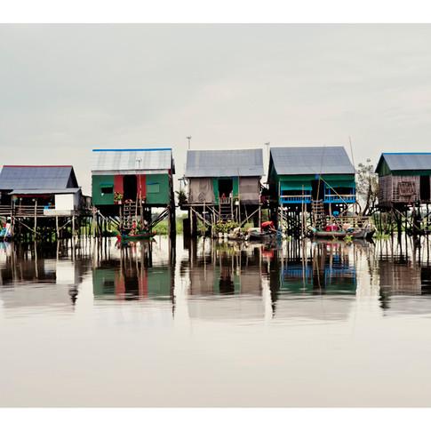 Stilt village, Tonle Sap, Cambodia