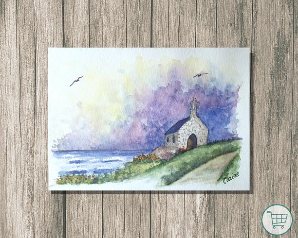Côte bretonne orageuse