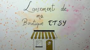 Ouverture de ma boutique ETSY