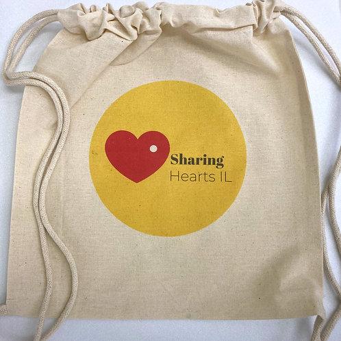 תיק בד שרוך - Sharing Hearts IL