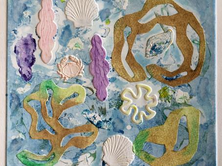 Thalassa, shell and sea drawings and paintings