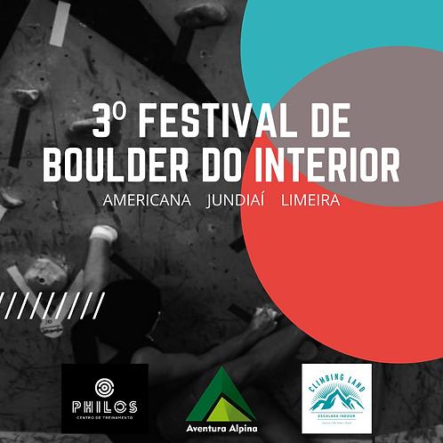 Inscrição 1ª Etapa 3º Festival de Boulder 2021 de Jundiaí/Americana/Limeira