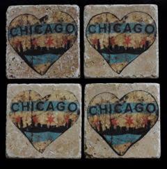 Chicago Heart Coaster