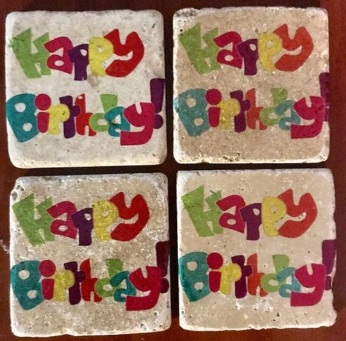 Happy Birthday coasters
