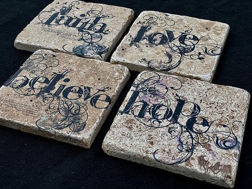 Believe,Love,Faith,Hope