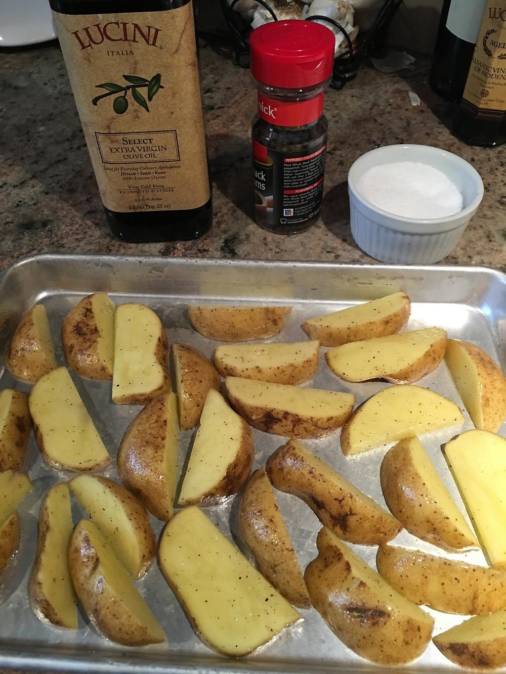 Roast Potatoes with Olive oil salt & pepper