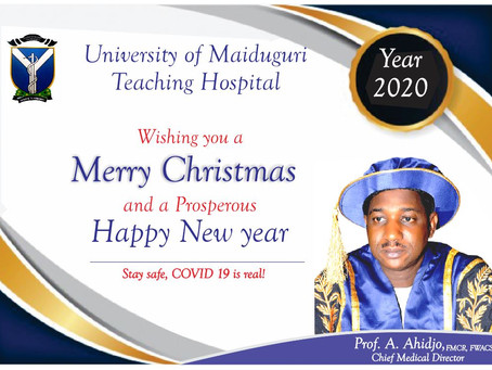 CHRISTMAS GREETINGS FROM THE CHIEF MEDICAL DIRECTOR