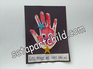 Hand print craft