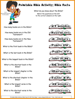 Printable Bible Activity - Bible Facts