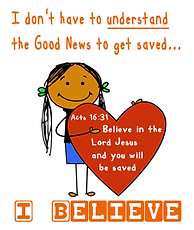Article for Parents/Teachers on Children And Salvation
