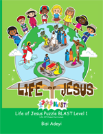Life Of Jesus Puzzle BLAST!  Level 1 is an activity book for children ages 6-8 years old