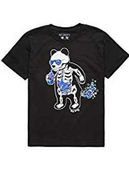 Riot Society Panda Skeleton Space Bubbles Boys T-Shirt