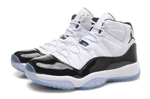 designer fashion e31df ef083 Jordans 11 Space Jams High White and Black Clear Blue Bottoms