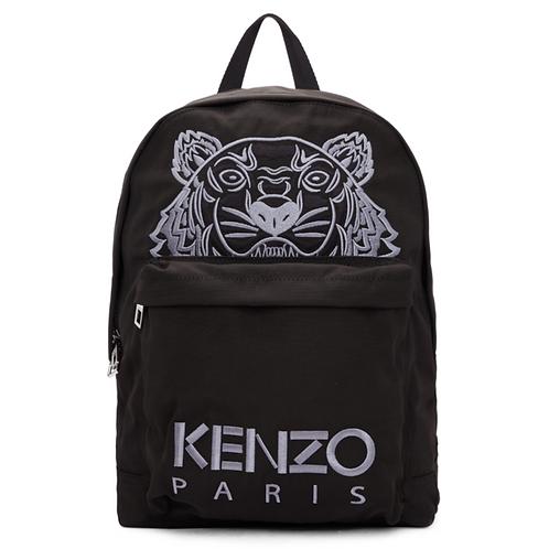 Kenzo Black Tiger Logo Backpack