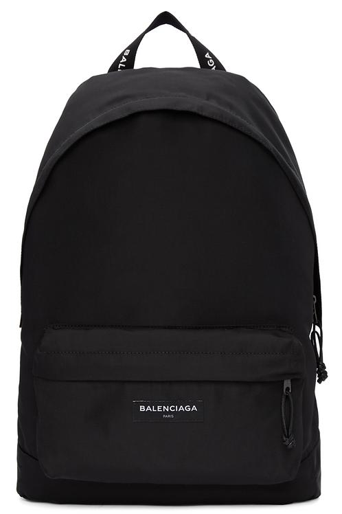 Balenciaga Black Nylon Explorer Backpack
