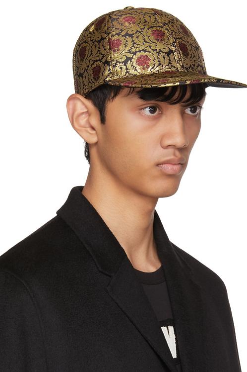 Dolce & Gabbana Red & Gold Brocade Cap