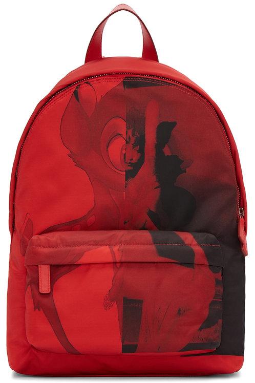 Givenchy Red Small Nylon Bambi Backpack