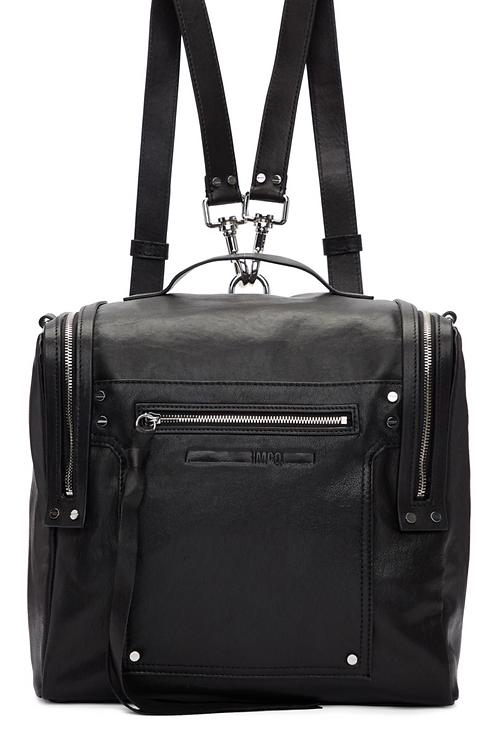 McQ Alexander McQueen Black Convertible Box Backpack